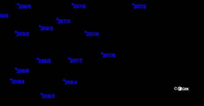 Parcela st. 207/8 v k.ú. Karlinky, Katastrální mapa