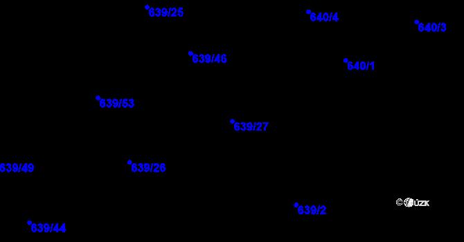 Parcela st. 639/27 v k.ú. Lipence, Katastrální mapa