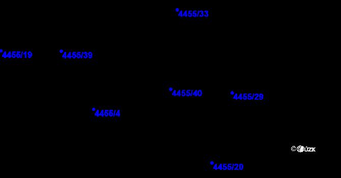 Parcela st. 4455/40 v k.ú. Lískovec u Frýdku-Místku, Katastrální mapa
