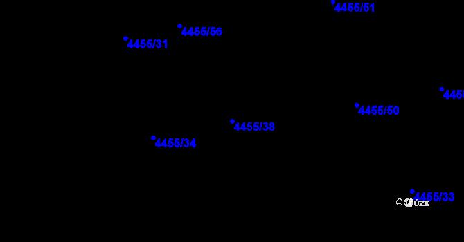 Parcela st. 4455/38 v k.ú. Lískovec u Frýdku-Místku, Katastrální mapa