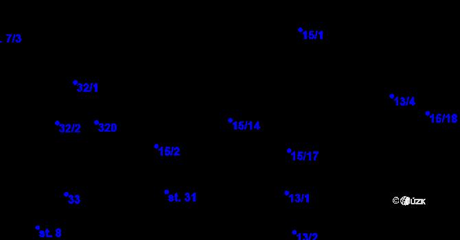 Parcela st. 15/14 v k.ú. Náklov, Katastrální mapa