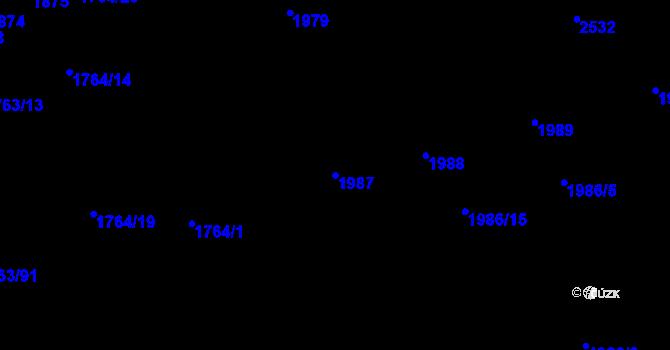 Parcela st. 1987 v k.ú. Horní Litvínov, Katastrální mapa