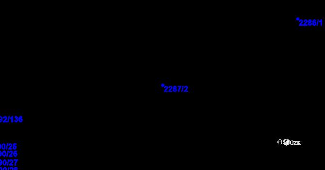 Parcela st. 2287/2 v k.ú. Horní Litvínov, Katastrální mapa