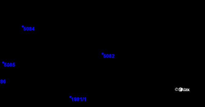 Parcela st. 5082 v k.ú. Loukov u Bystřice pod Hostýnem, Katastrální mapa