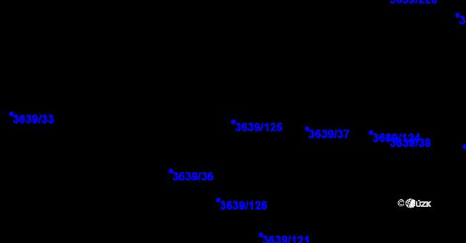 Parcela st. 3639/125 v k.ú. Louny, Katastrální mapa