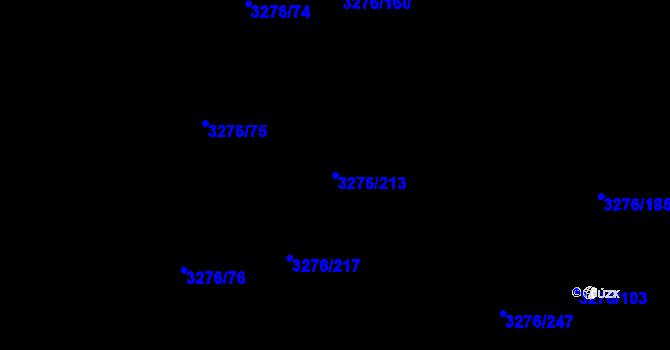 Parcela st. 3276/213 v k.ú. Louny, Katastrální mapa