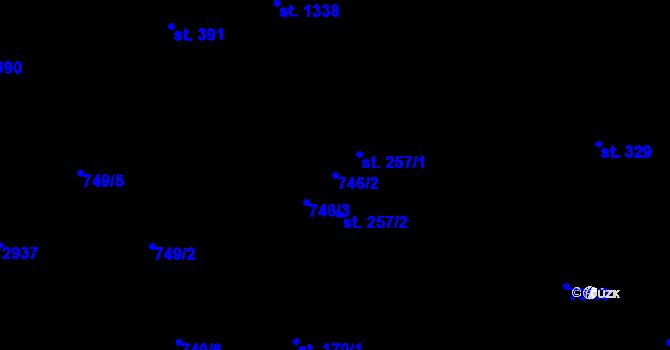 Parcela st. 746/2 v k.ú. Luhačovice, Katastrální mapa