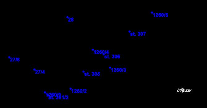 Parcela st. 306 v k.ú. Luka nad Jihlavou, Katastrální mapa