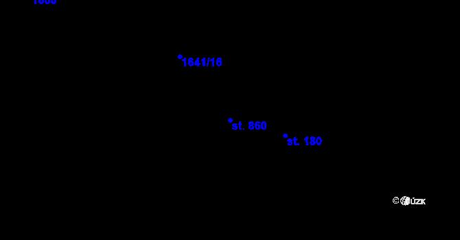 Parcela st. 860 v k.ú. Luka nad Jihlavou, Katastrální mapa