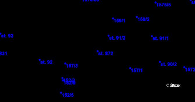 Parcela st. 872 v k.ú. Luka nad Jihlavou, Katastrální mapa