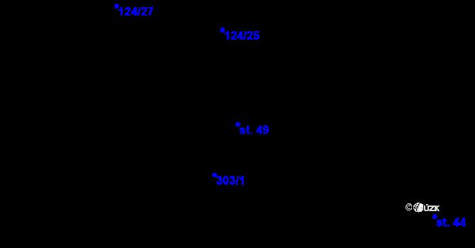 Parcela st. 49 v k.ú. Otín nad Jihlavou, Katastrální mapa