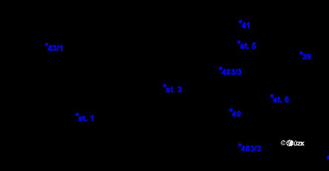 Parcela st. 3 v k.ú. Předboř nad Jihlavou, Katastrální mapa