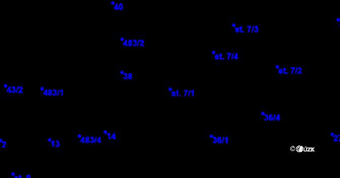 Parcela st. 7/1 v k.ú. Předboř nad Jihlavou, Katastrální mapa