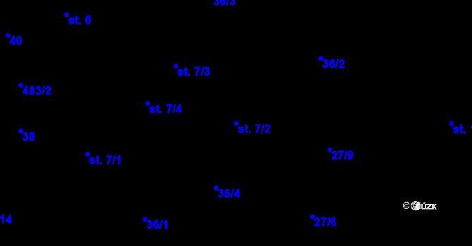 Parcela st. 7/2 v k.ú. Předboř nad Jihlavou, Katastrální mapa