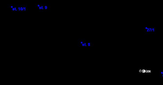 Parcela st. 8 v k.ú. Předboř nad Jihlavou, Katastrální mapa