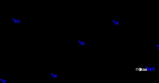 Parcela st. 16 v k.ú. Předboř nad Jihlavou, Katastrální mapa
