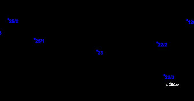Parcela st. 23 v k.ú. Předboř nad Jihlavou, Katastrální mapa