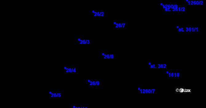 Parcela st. 26/8 v k.ú. Předboř nad Jihlavou, Katastrální mapa