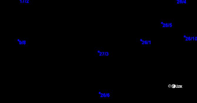 Parcela st. 27/3 v k.ú. Předboř nad Jihlavou, Katastrální mapa
