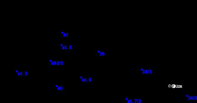 Parcela st. 39 v k.ú. Předboř nad Jihlavou, Katastrální mapa