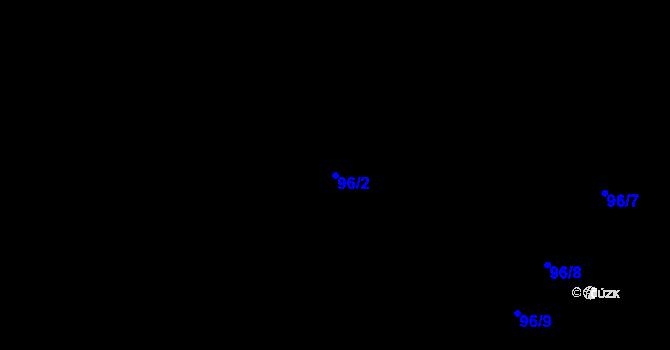 Parcela st. 96/2 v k.ú. Předboř nad Jihlavou, Katastrální mapa