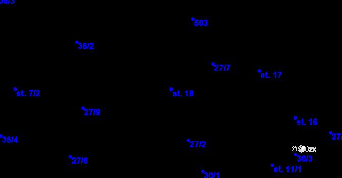 Parcela st. 18 v k.ú. Předboř nad Jihlavou, Katastrální mapa