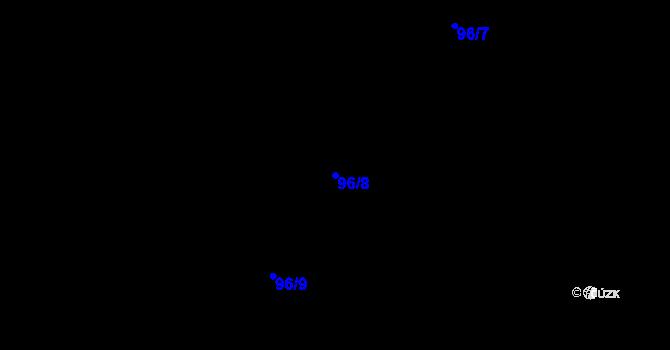 Parcela st. 96/8 v k.ú. Předboř nad Jihlavou, Katastrální mapa