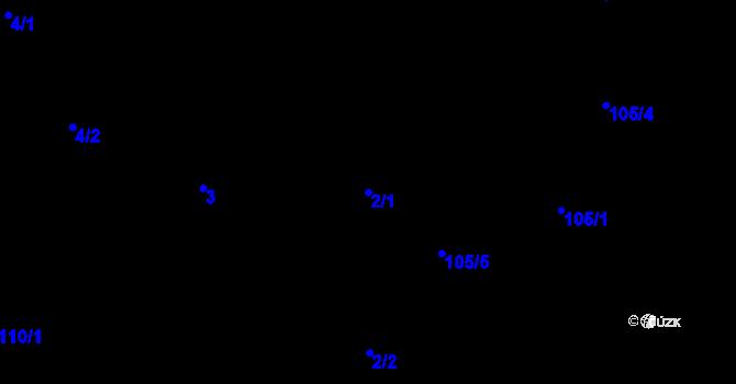 Parcela st. 2/1 v k.ú. Malé Březno, Katastrální mapa