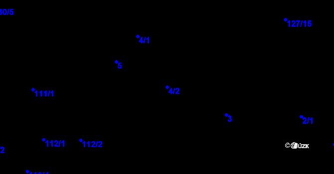 Parcela st. 4/2 v k.ú. Malé Březno, Katastrální mapa