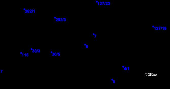 Parcela st. 6 v k.ú. Malé Březno, Katastrální mapa