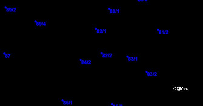 Parcela st. 82/2 v k.ú. Malé Březno, Katastrální mapa