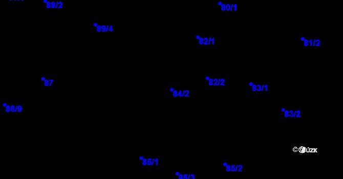 Parcela st. 84/2 v k.ú. Malé Březno, Katastrální mapa
