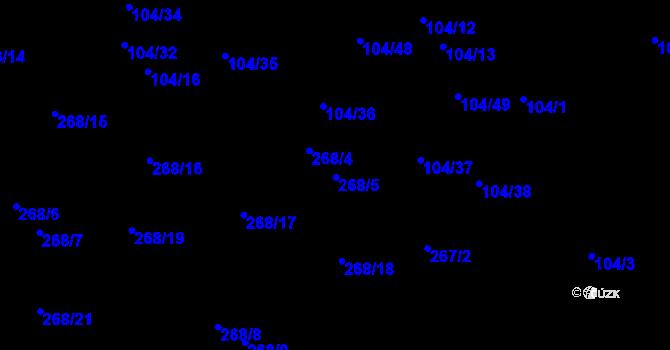 Parcela st. 268/5 v k.ú. Malé Březno, Katastrální mapa