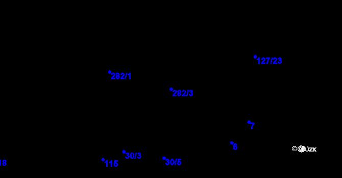 Parcela st. 282/3 v k.ú. Malé Březno, Katastrální mapa