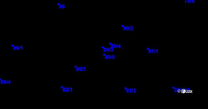 Parcela st. 80/5 v k.ú. Malé Březno, Katastrální mapa