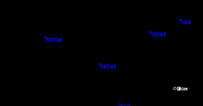 Parcela st. 127/34 v k.ú. Malé Březno, Katastrální mapa