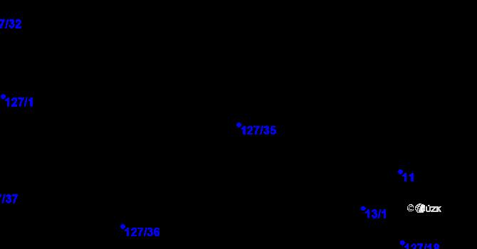 Parcela st. 127/35 v k.ú. Malé Březno, Katastrální mapa