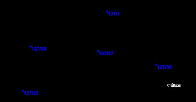 Parcela st. 127/37 v k.ú. Malé Březno, Katastrální mapa