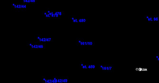 Parcela st. 161/10 v k.ú. Malšova Lhota, Katastrální mapa
