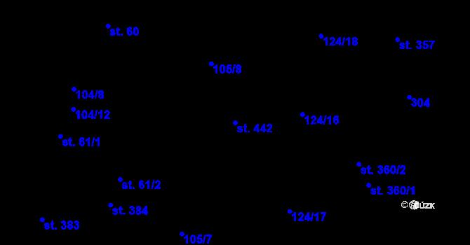 Parcela st. 442 v k.ú. Malšova Lhota, Katastrální mapa
