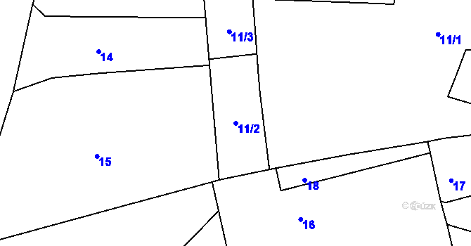 Parcela st. 11/2 v k.ú. Kosov u Jihlavy, Katastrální mapa