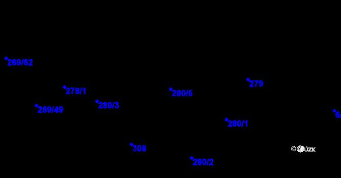 Parcela st. 280/5 v k.ú. Kosov u Jihlavy, Katastrální mapa