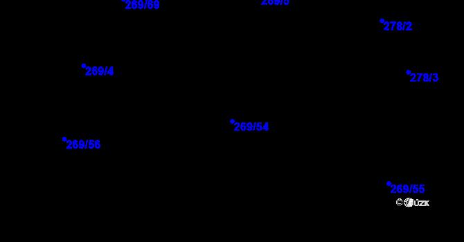 Parcela st. 269/54 v k.ú. Kosov u Jihlavy, Katastrální mapa