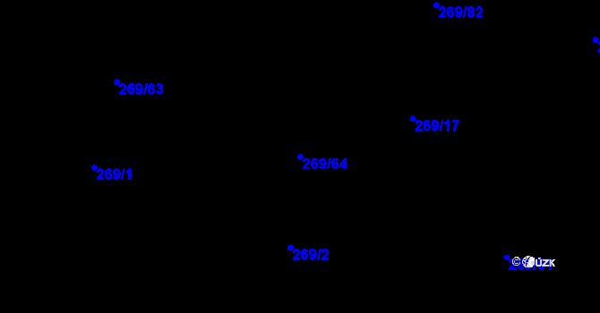 Parcela st. 269/64 v k.ú. Kosov u Jihlavy, Katastrální mapa