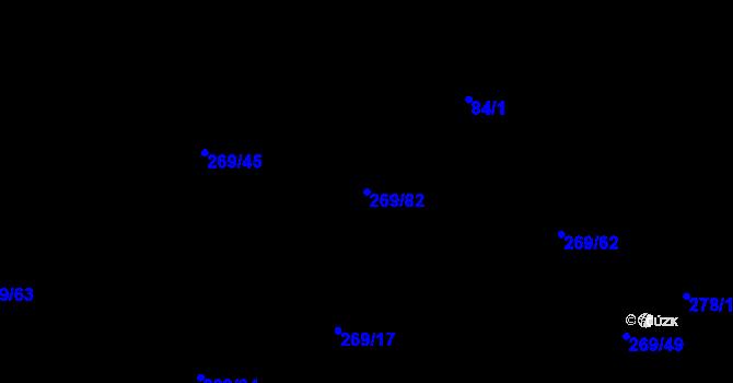 Parcela st. 269/82 v k.ú. Kosov u Jihlavy, Katastrální mapa