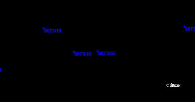 Parcela st. 8073/52 v k.ú. Mělník, Katastrální mapa