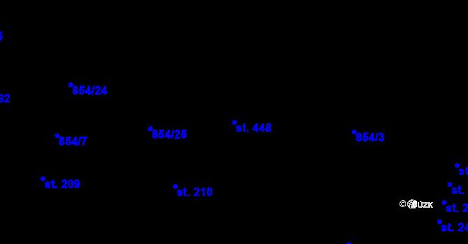 Parcela st. 448 v k.ú. Šmolovy u Havlíčkova Brodu, Katastrální mapa
