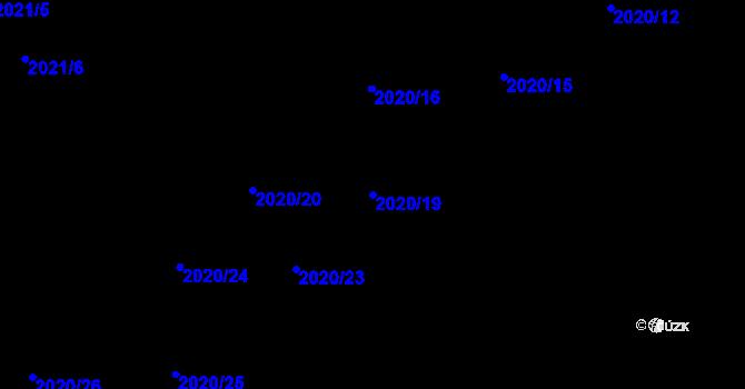 Parcela st. 2020/19 v k.ú. Mikulčice, Katastrální mapa