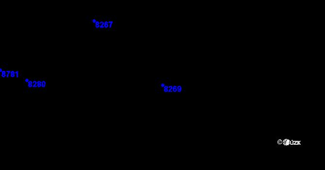Parcela st. 8269 v k.ú. Mikulov na Moravě, Katastrální mapa
