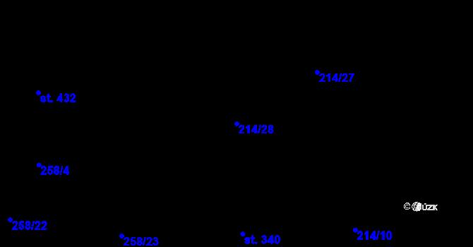 Parcela st. 214/28 v k.ú. Mikulovice u Pardubic, Katastrální mapa